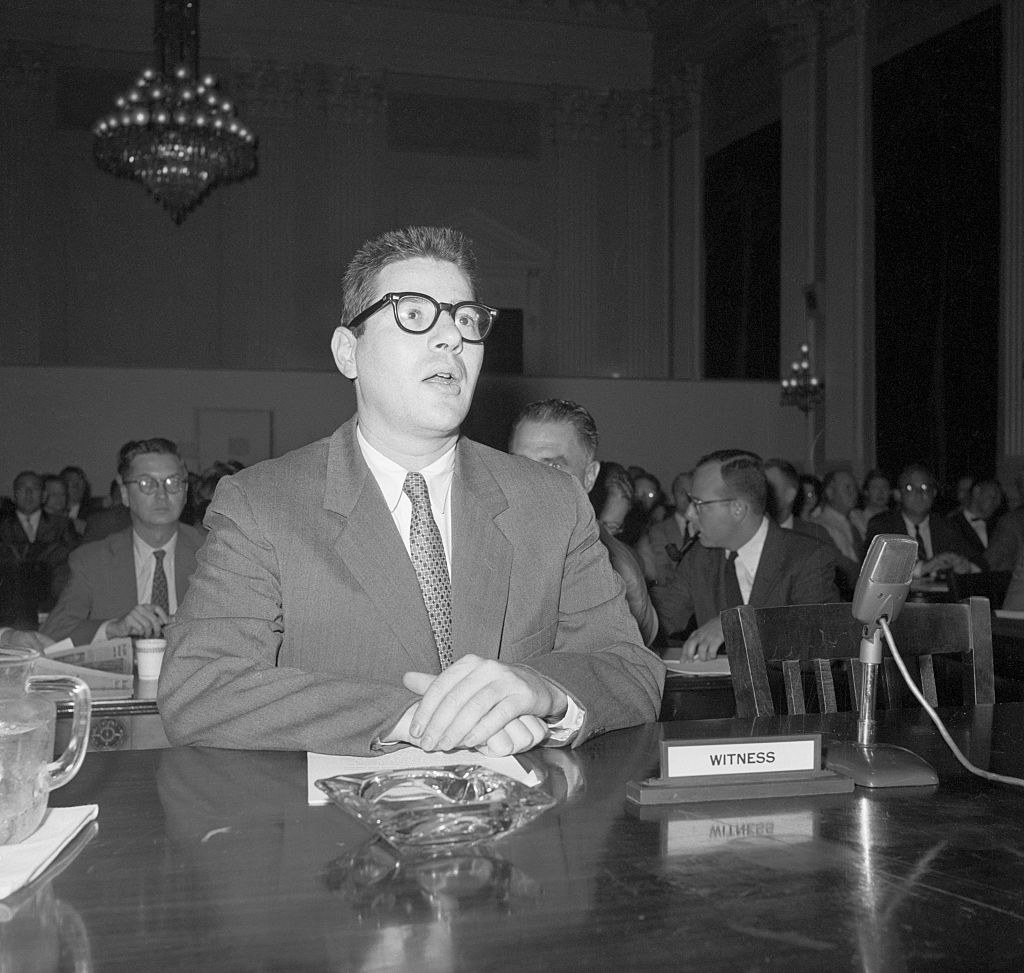 Herb Stempel testifying before Congress about game shows being rigged