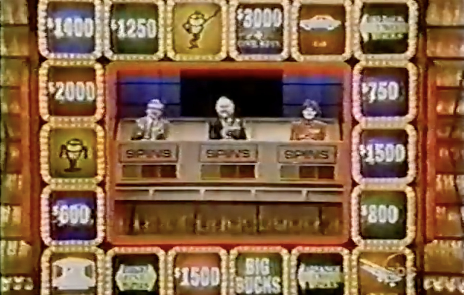 The gameboard on Press Your Luck