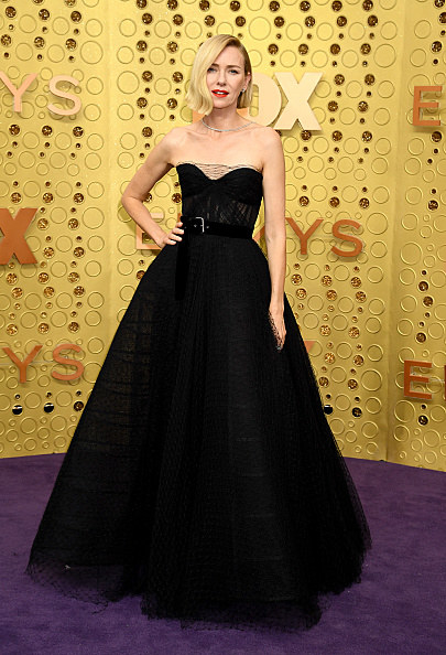 Naomi Watts wears a ballgown at the Emmys