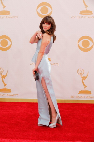 Zooey Deschanel at the Emmys