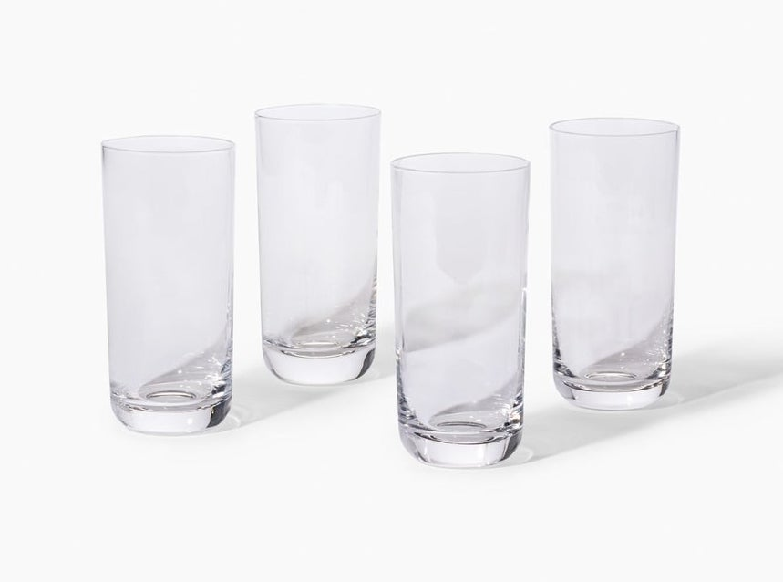 set of four clear tall classes