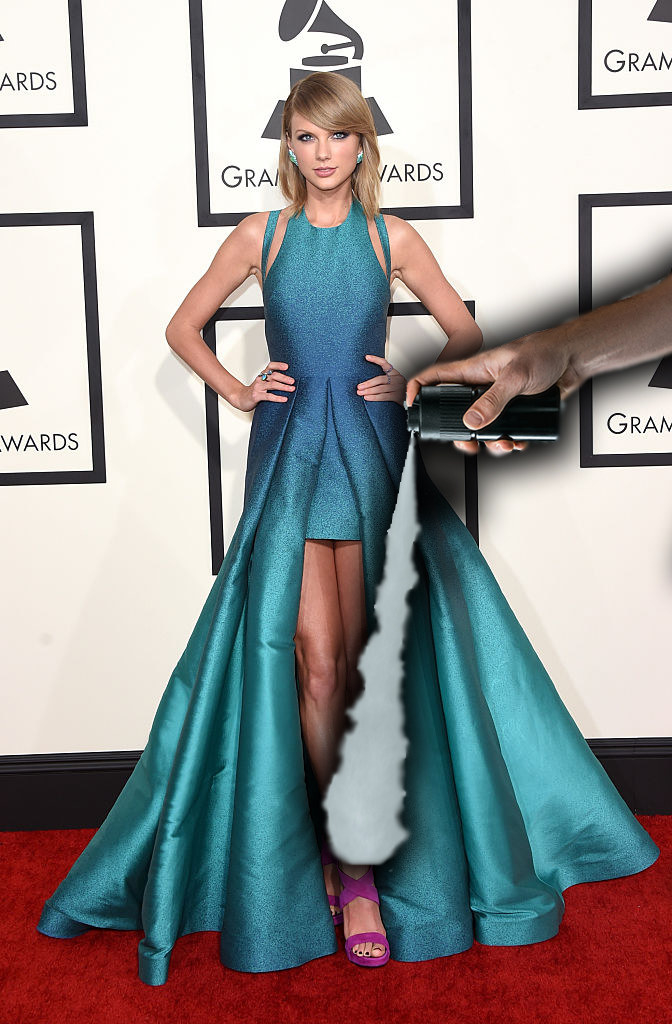 Taylor Swift wore platforms with no heel to the 2015 Grammys