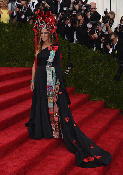 """the gown was designed to fit the theme """"China Through the Looking Glass"""""""