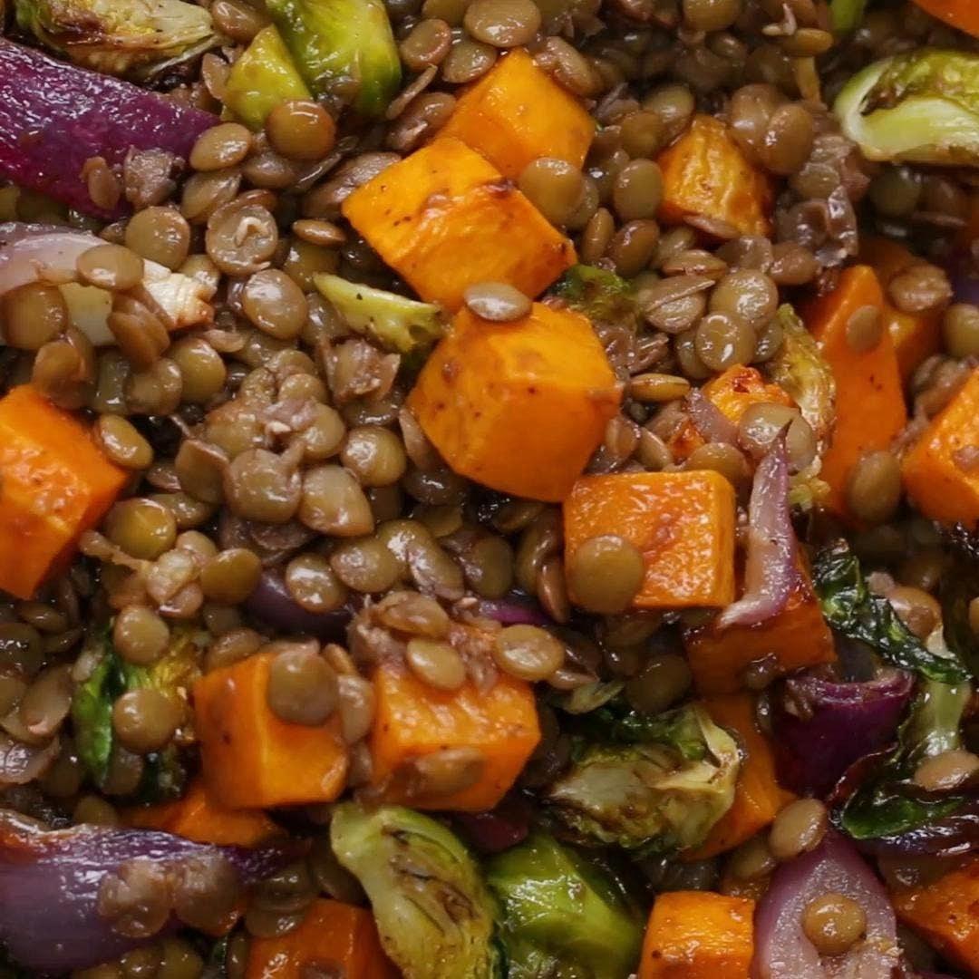 Lentil & Roasted Vegetable Salad