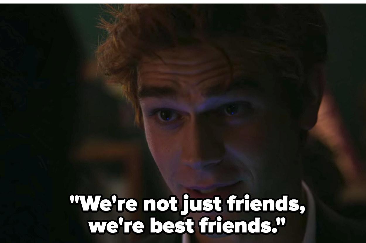 "Archie: ""We're not just friends we're best friends"""