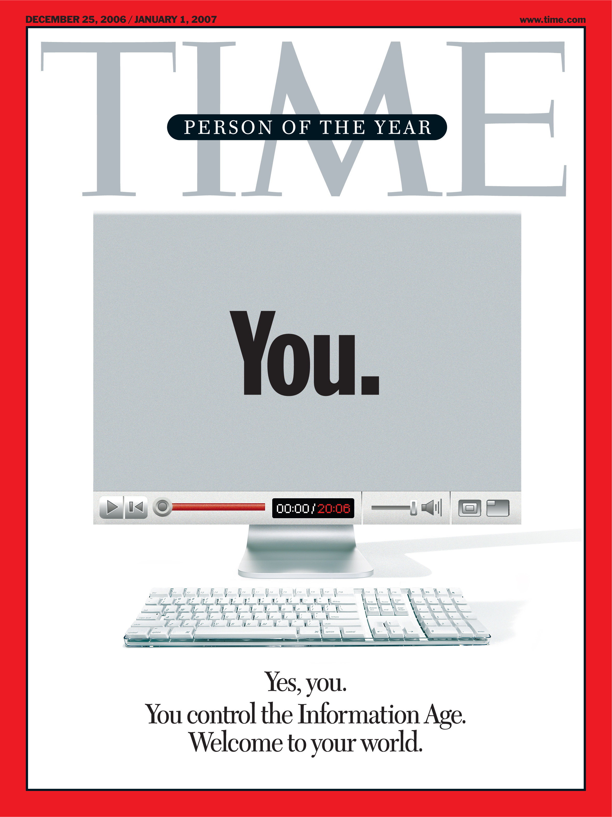 """The cover of TIME magazine from 2006 naming """"You"""" as person of the year"""