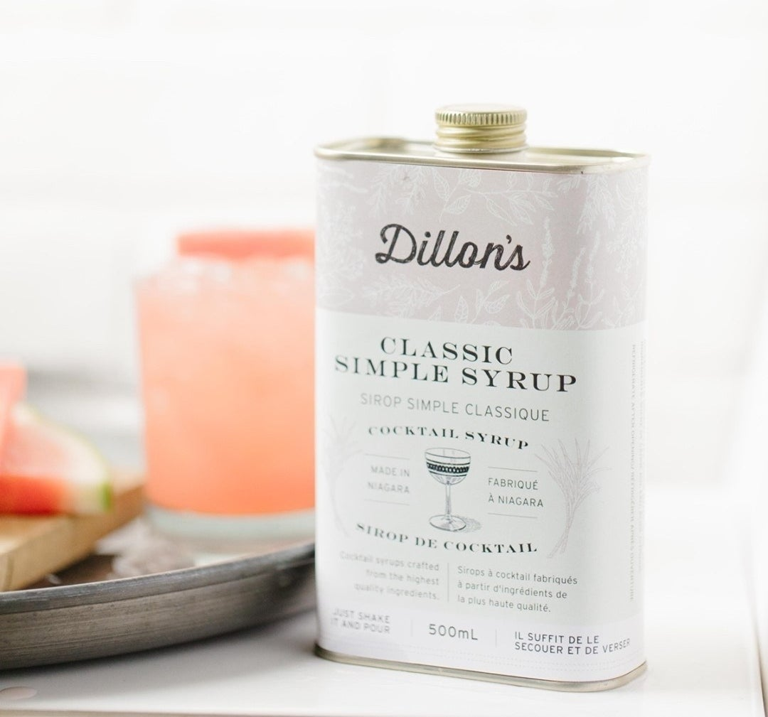 A tin of dillon's classic simple syrup