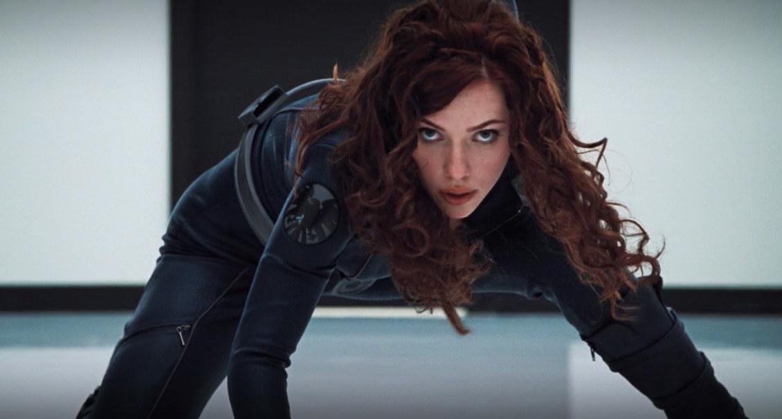 Natasha's signature red hair was always a wig