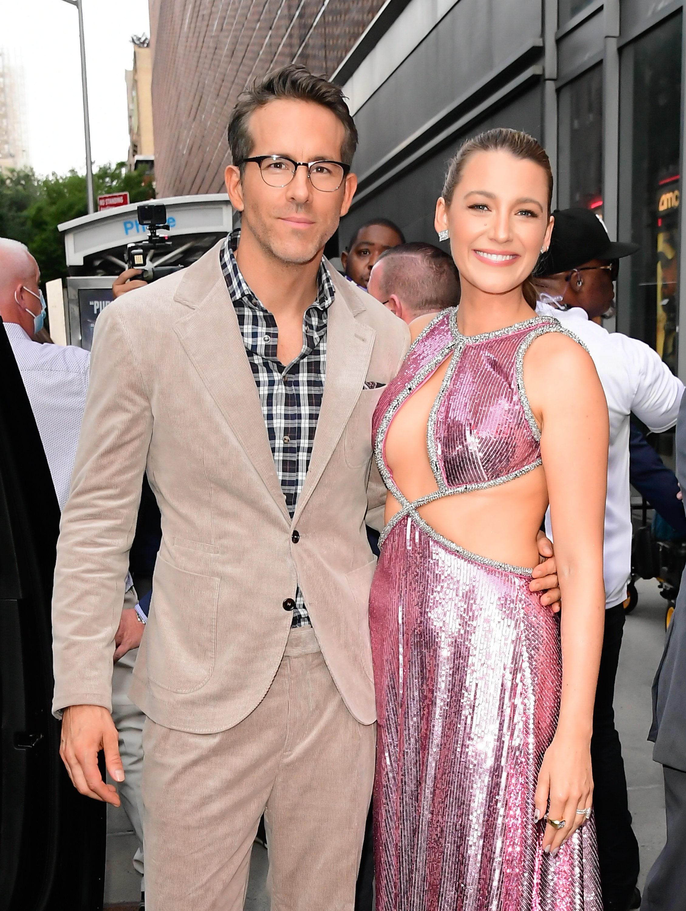Ryan Reynolds and Blake Lively are photographed at the premiere