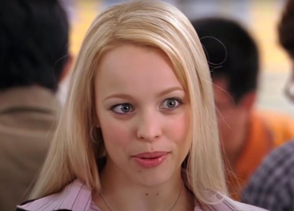 Regina's long, straight blonde hair
