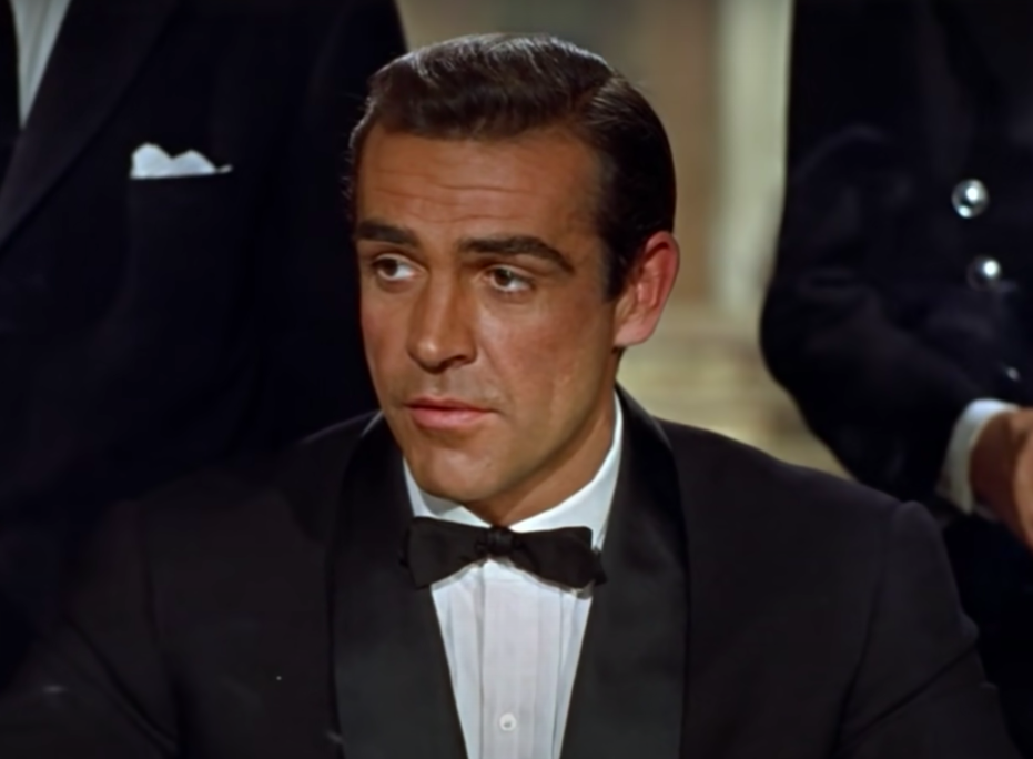 Bond's perfectly styled hair