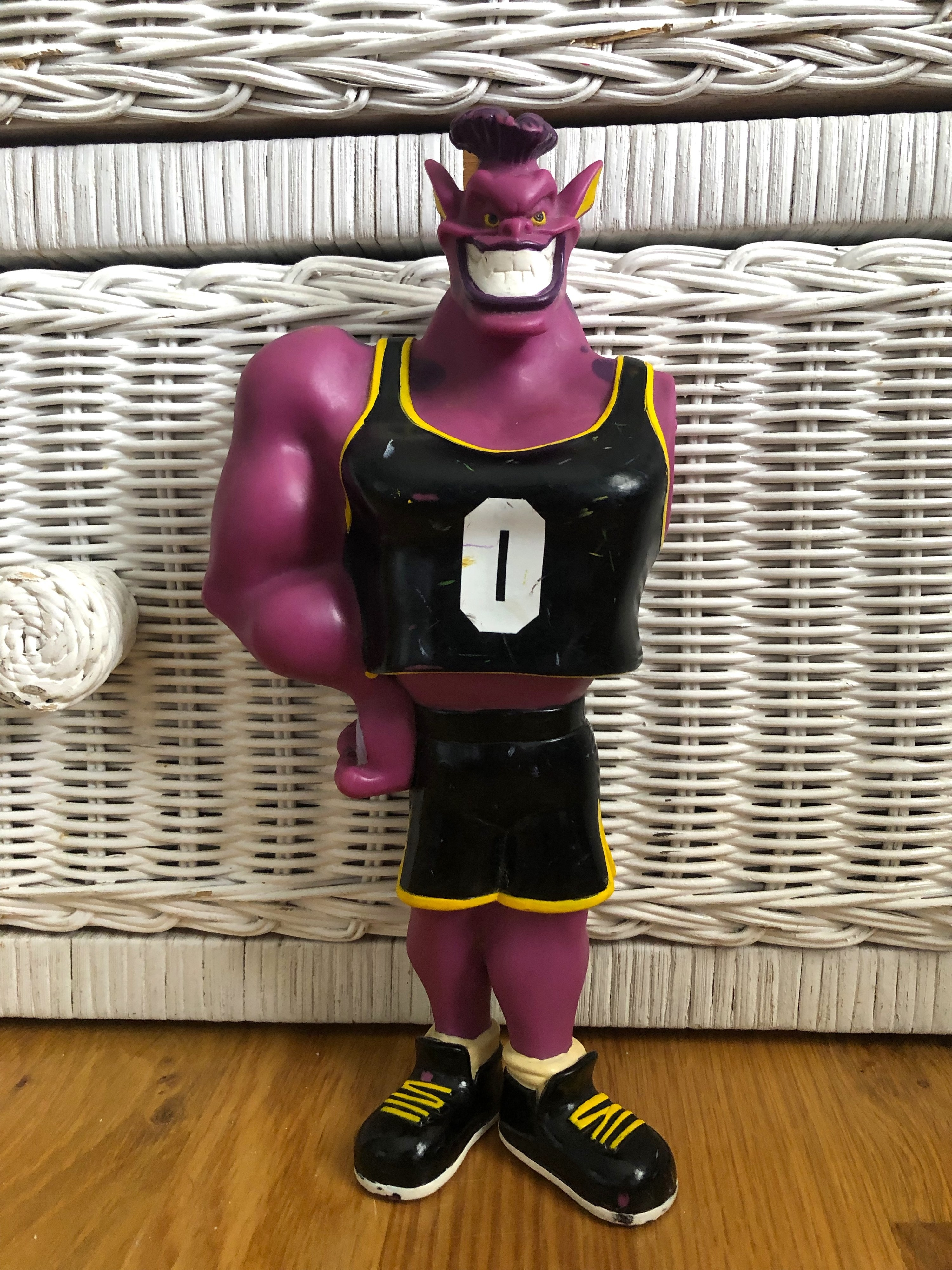 Monstar action figure missing an arm