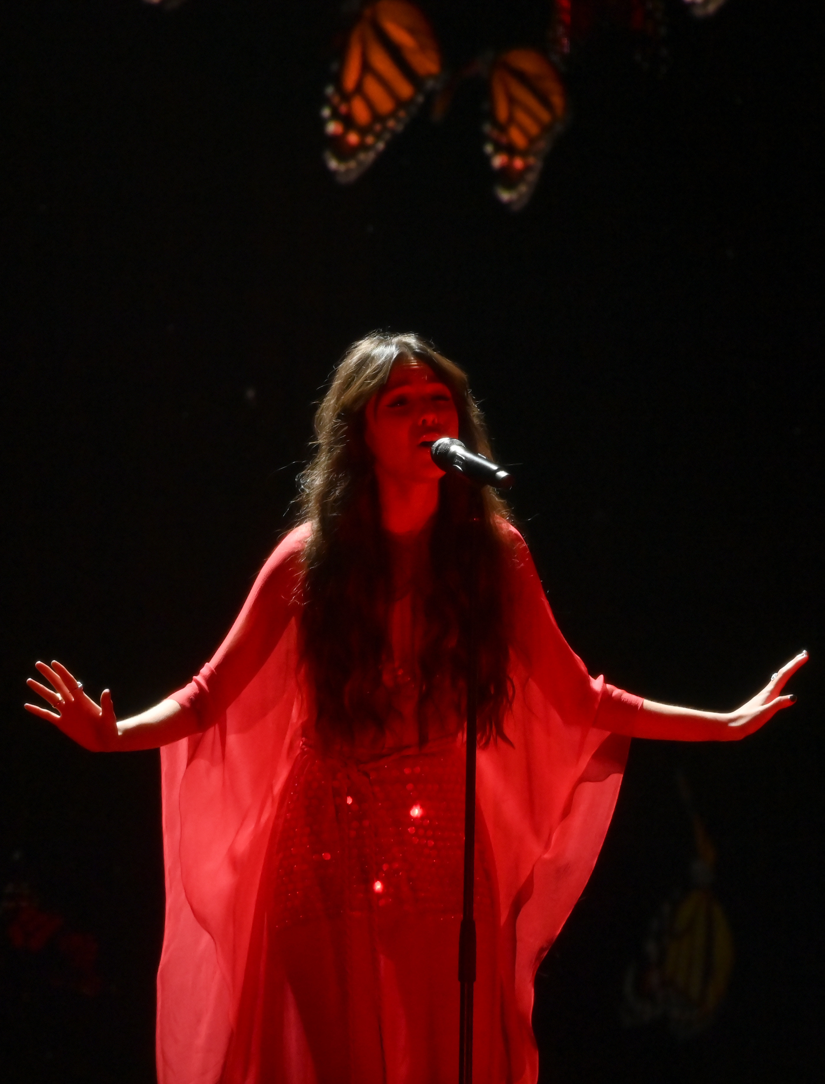 Olivia performing on stage
