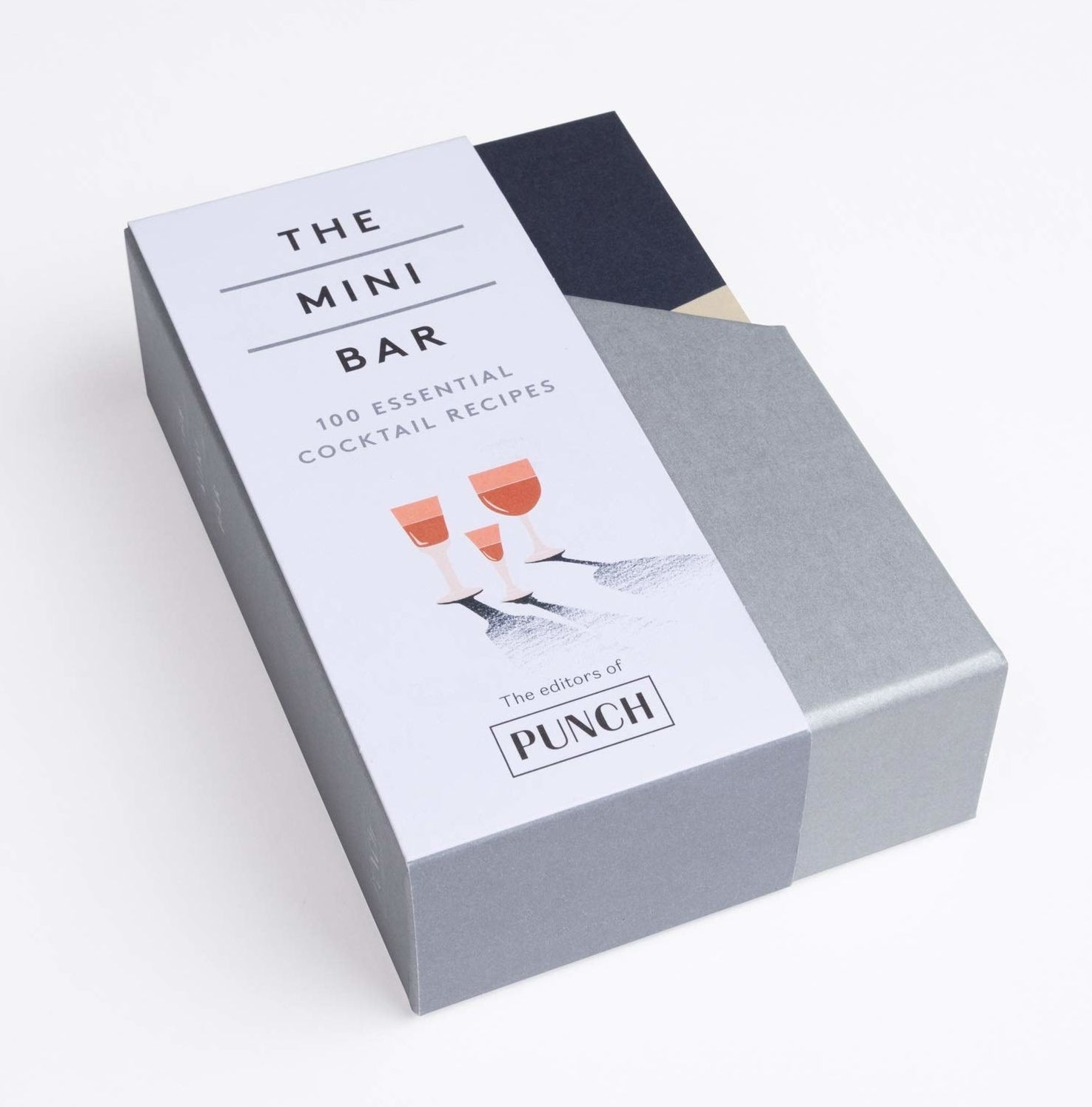 A box of cocktail-making books