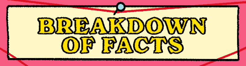 are drawing of breakdown of facts