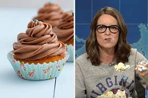 cupcake and tina fey