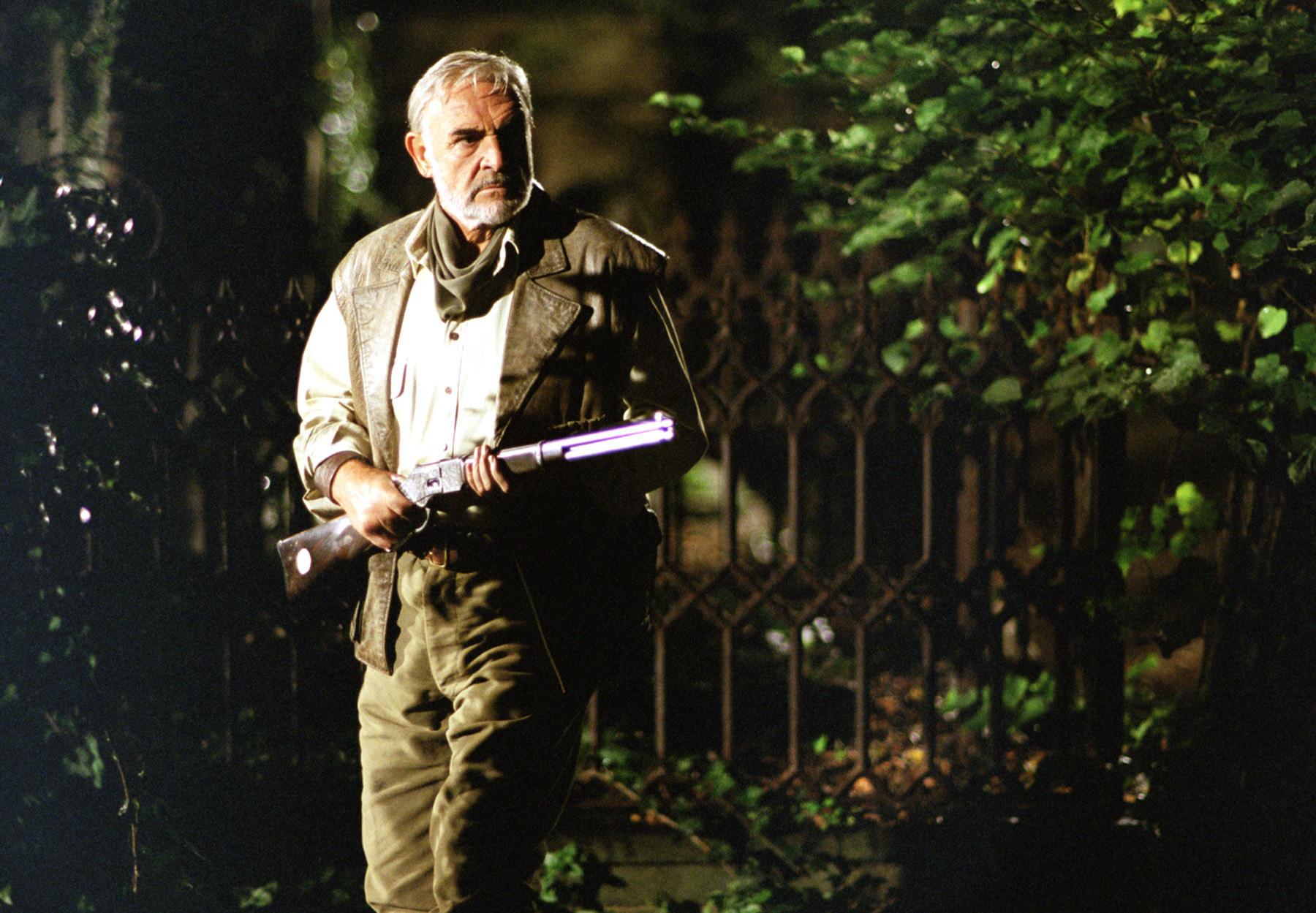 Allan readies his rifle
