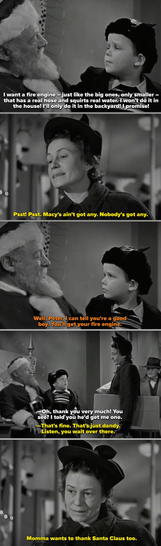 "Thelma Ritter talking to Edmund Gwenn (as Santa) in ""Miracle on 34th Street"""