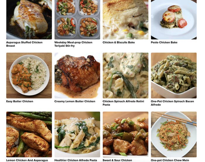 Several dinner recipes pictured online