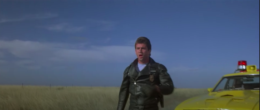 """Max watching a car blow up in """"Mad Max"""""""
