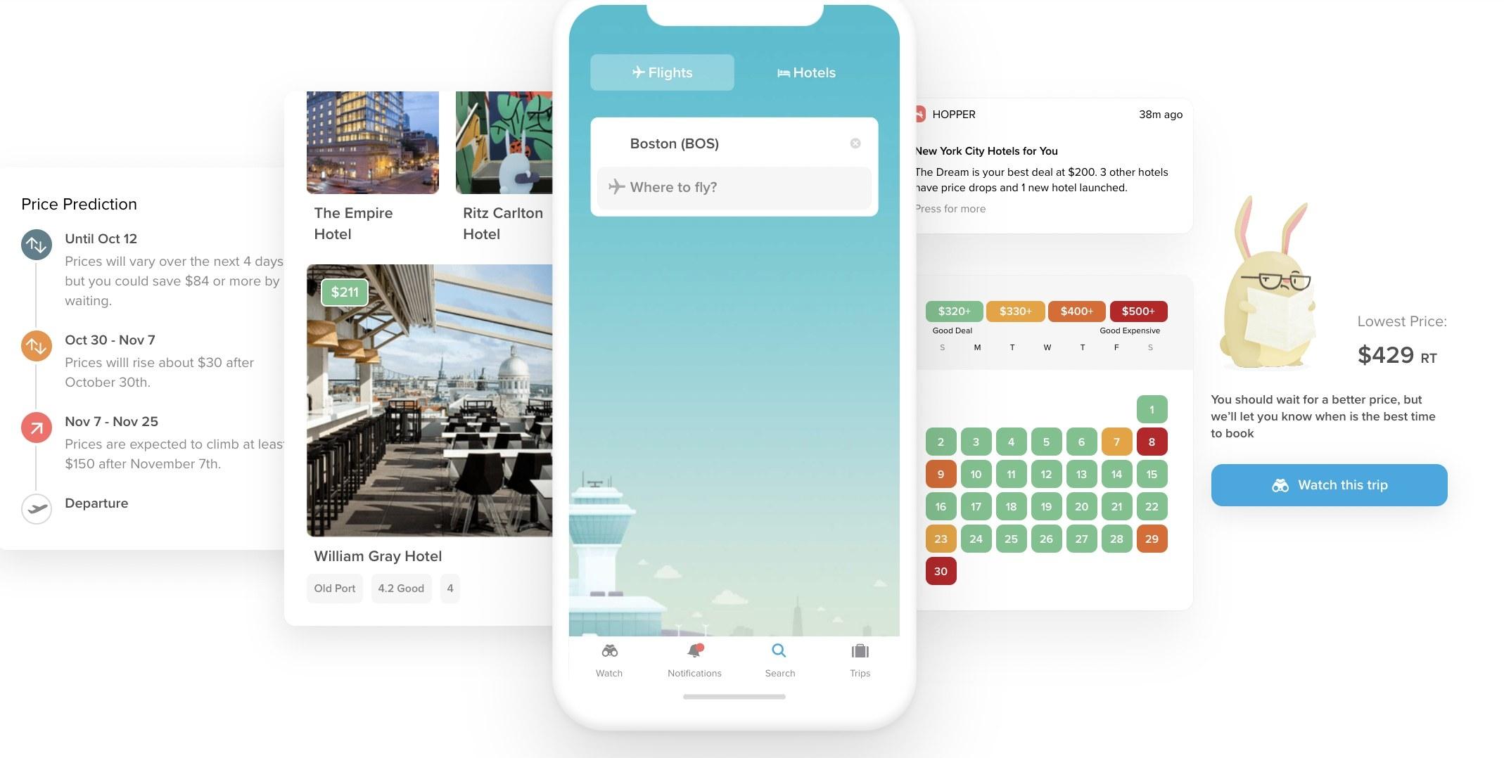 Screenshots of flight tracker Apps