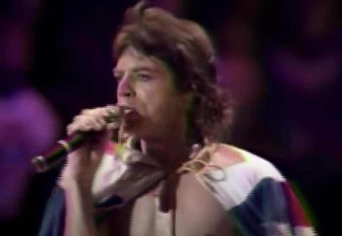 Mick Jagger performing live
