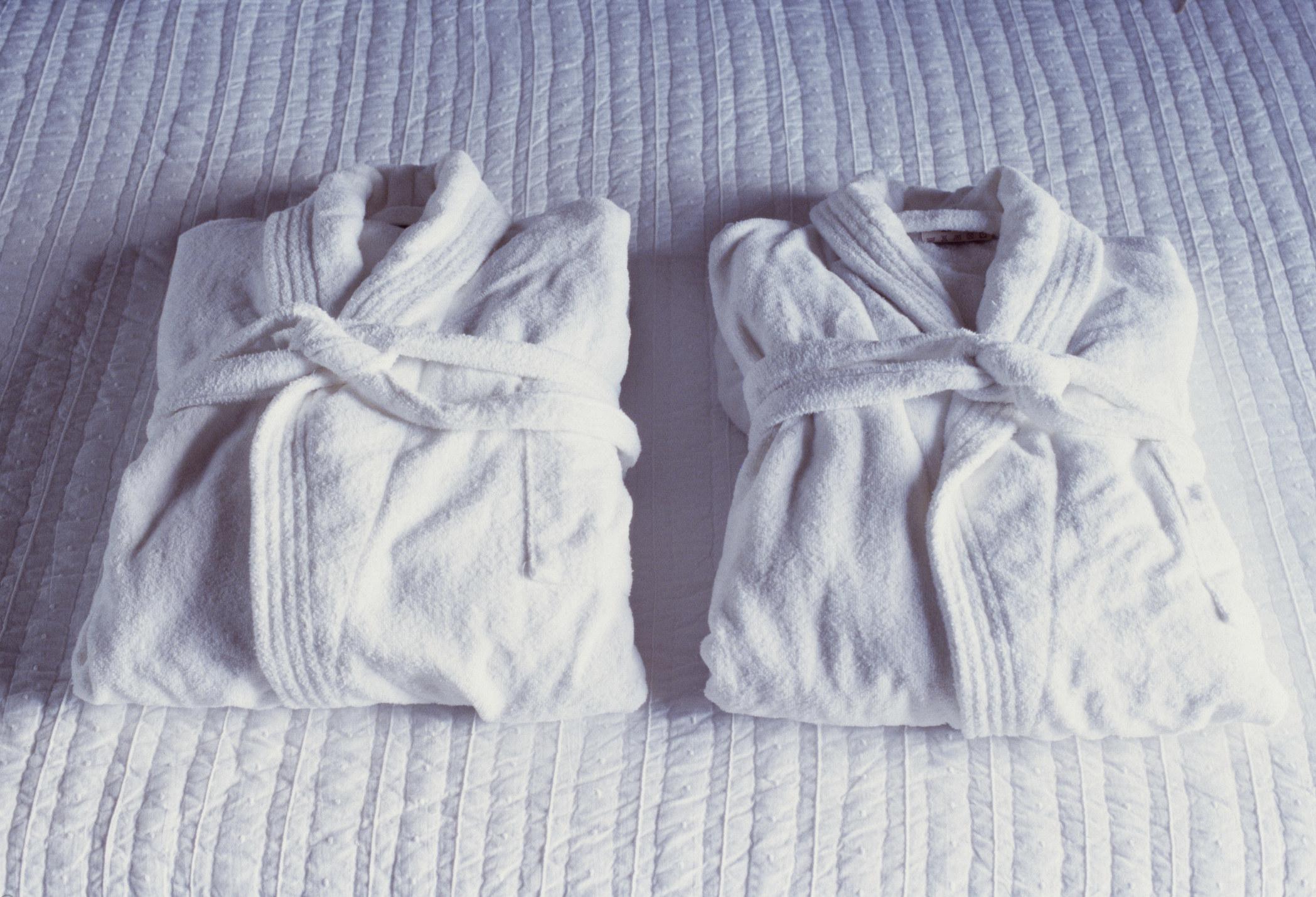 Plush hotel robes