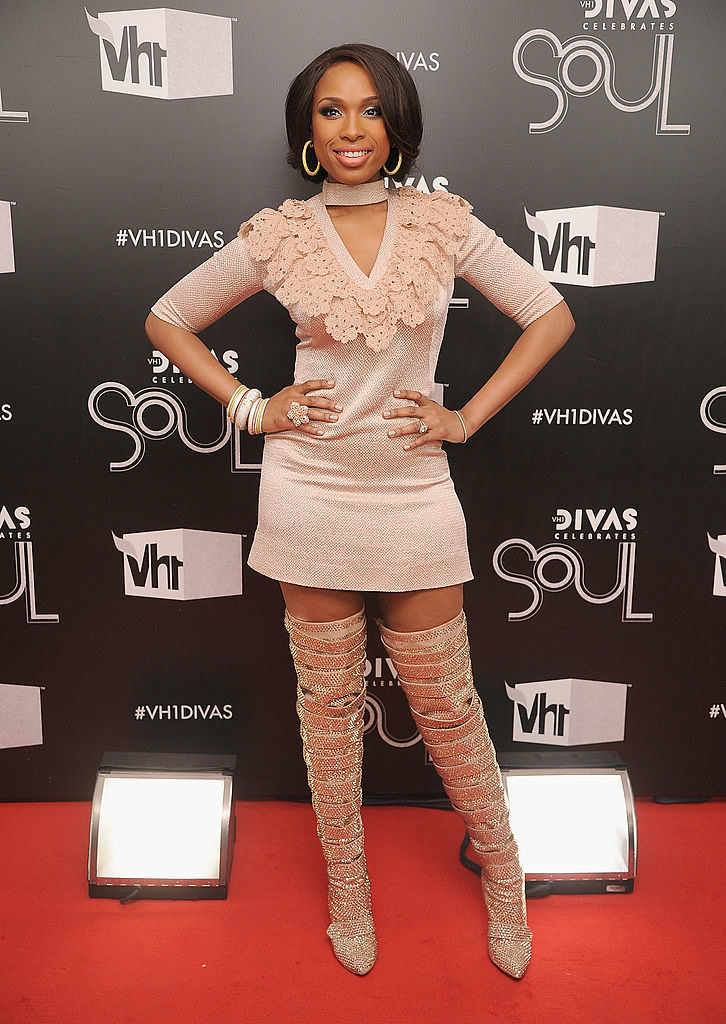 she wore a short, structured dress with thigh high boots to the VH1 Divas Celebrates Soul