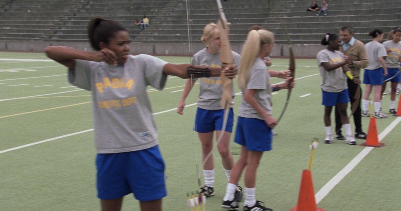 Archery practice at school