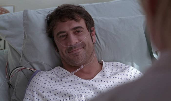 Denny Duquette laying in a hospital bed