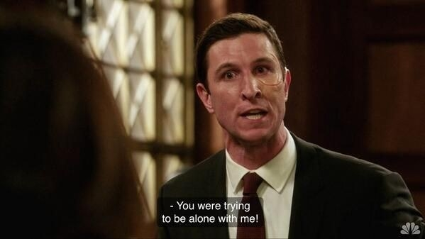 Lewis interrogating Benson on the stand