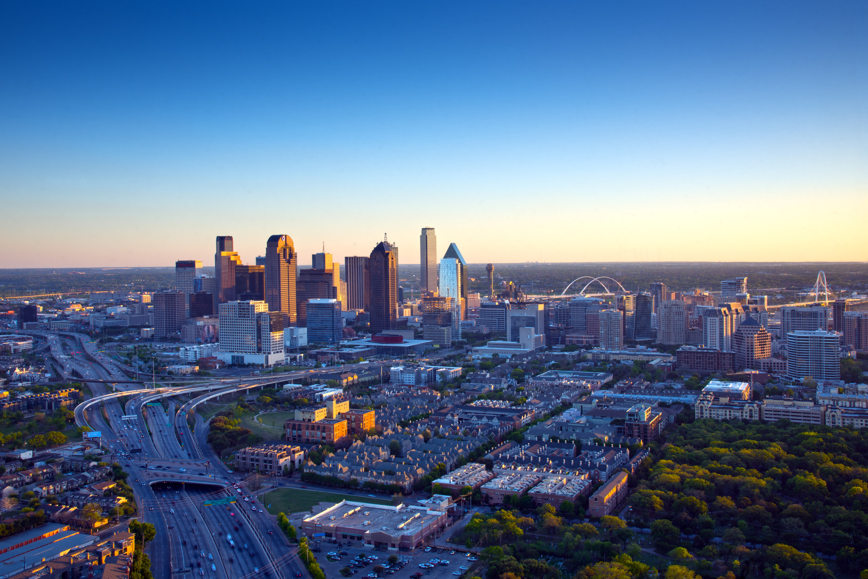 View over the city of Dallas