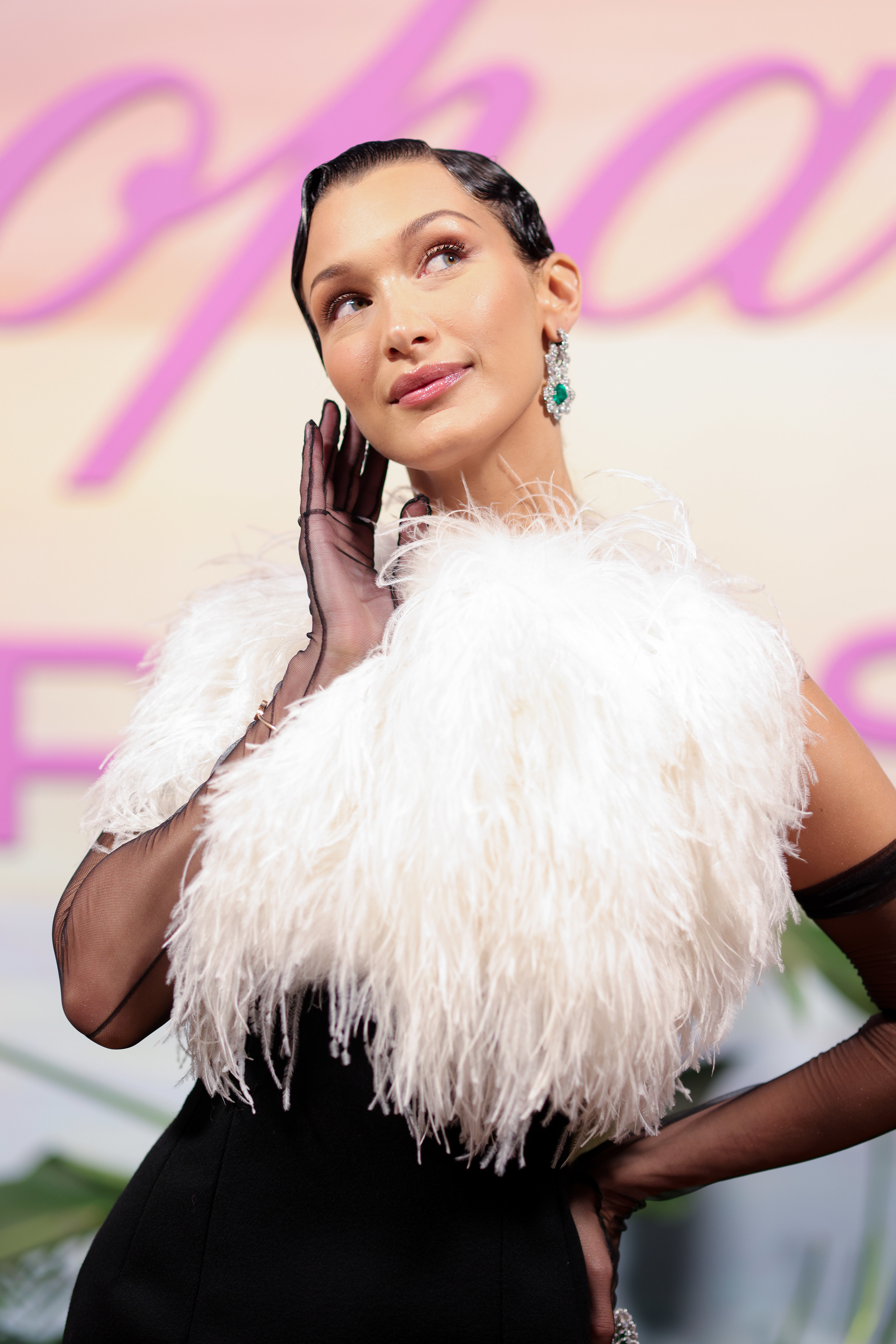 Bella Hadid is pictured at the Cannes Film Festival in 2021