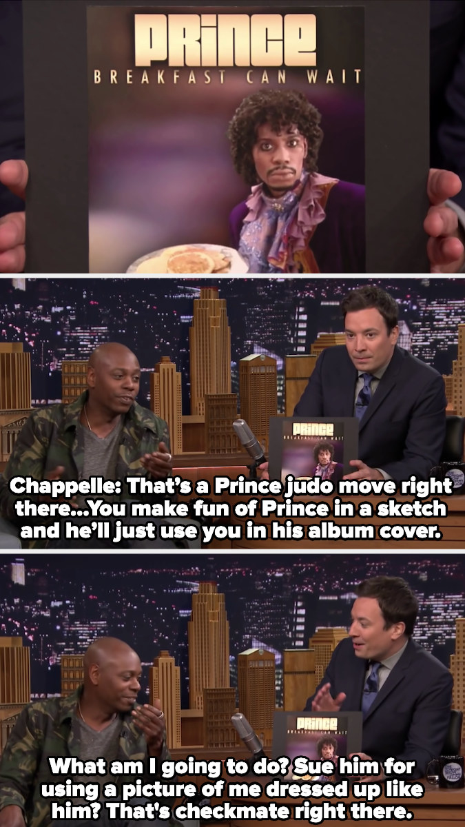 Chappelle talking about Prince using him in his album cover
