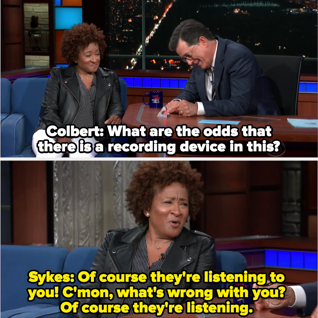 Wanda Sykes tells Colbert that of course he's being listened to by the NSA