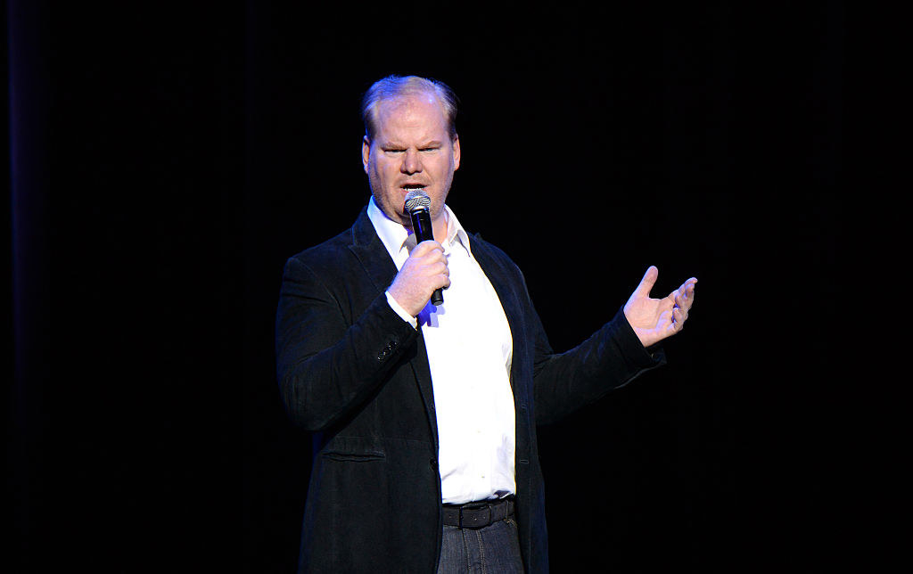 Jim Gaffigan performing