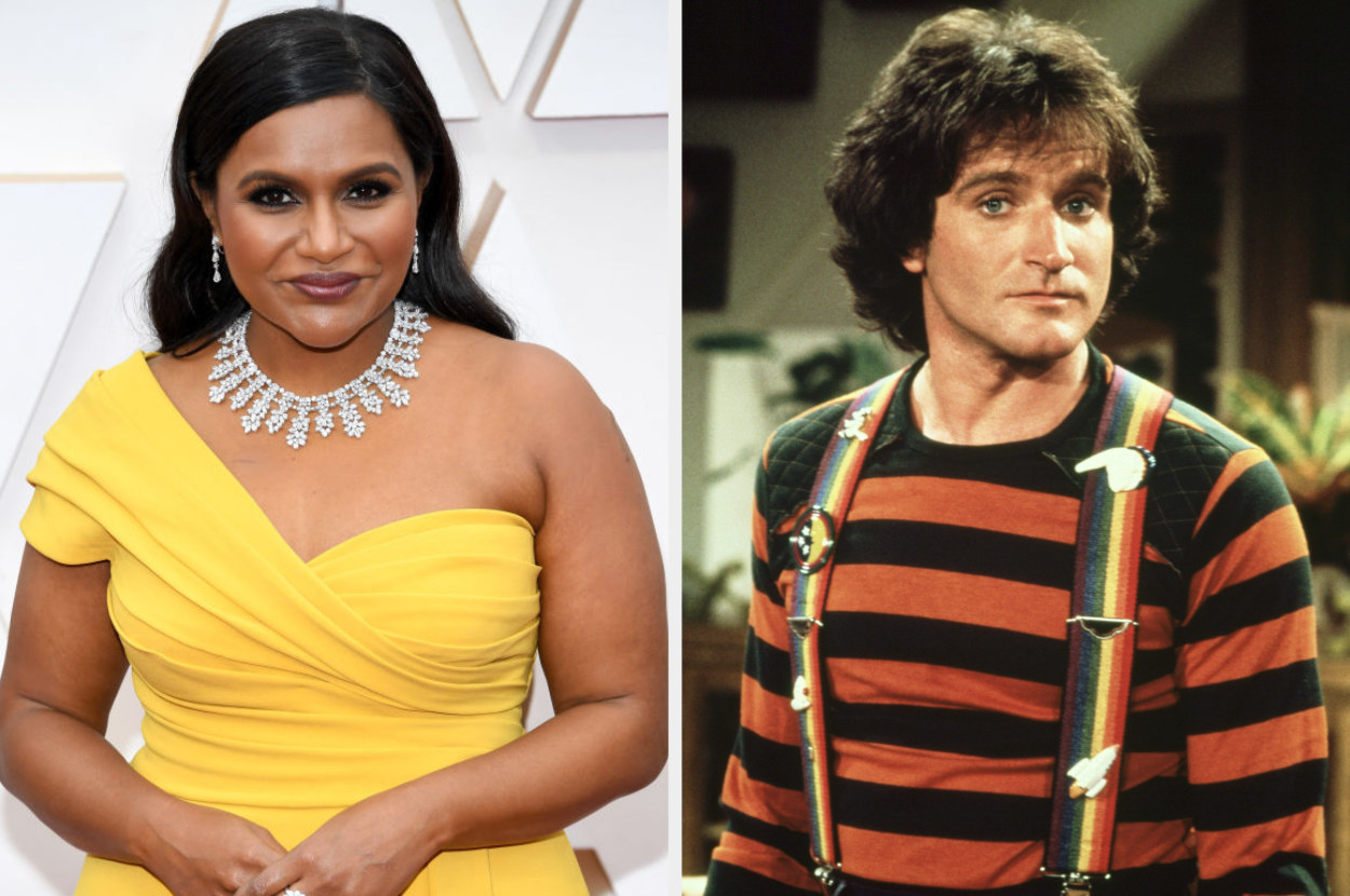 Mindy Kaling and Robin Williams