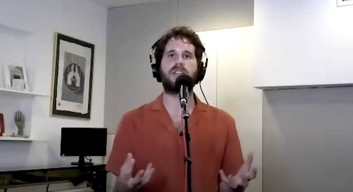 Ben performing