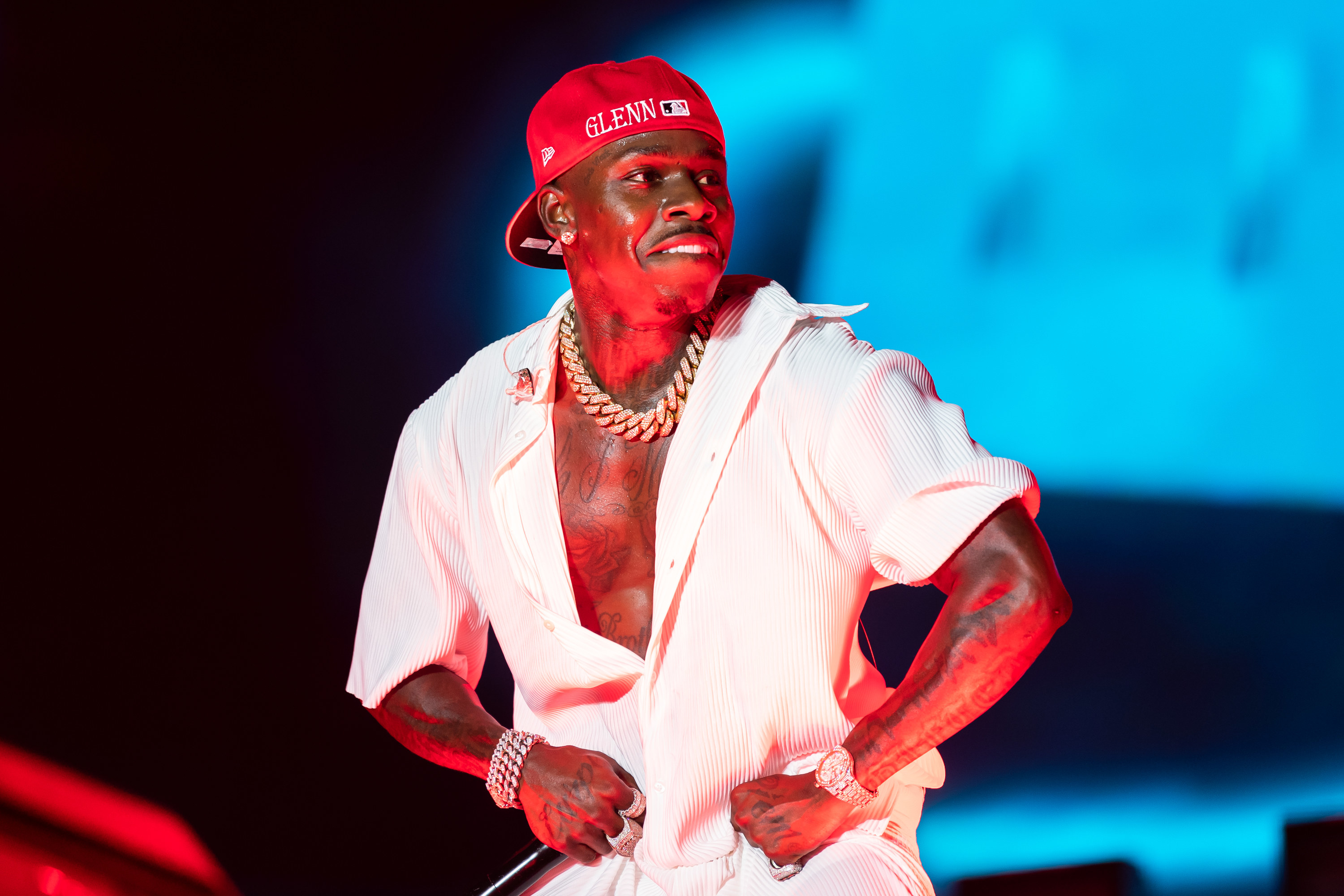 DaBaby performing on stage