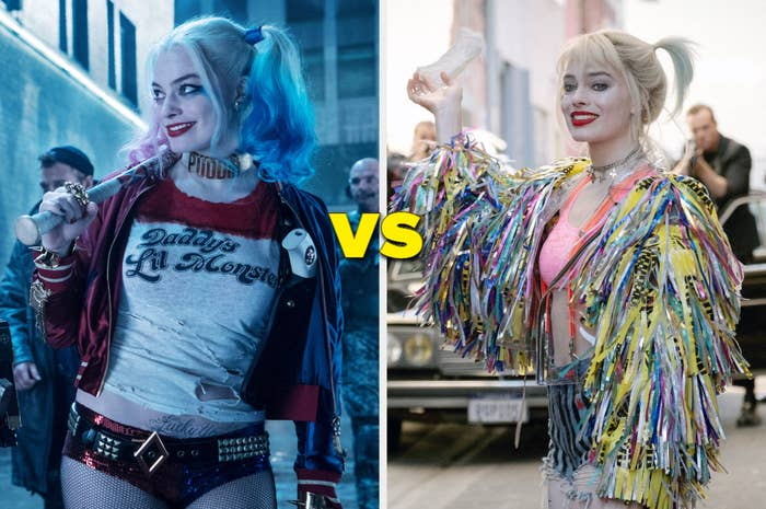 In Suicide Squad, Harley wore a shirt that says Daddy's Lil Monster and short shorts