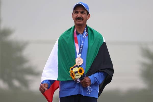 Abdullah Alrashidi of Team Kuwait with bronze medal