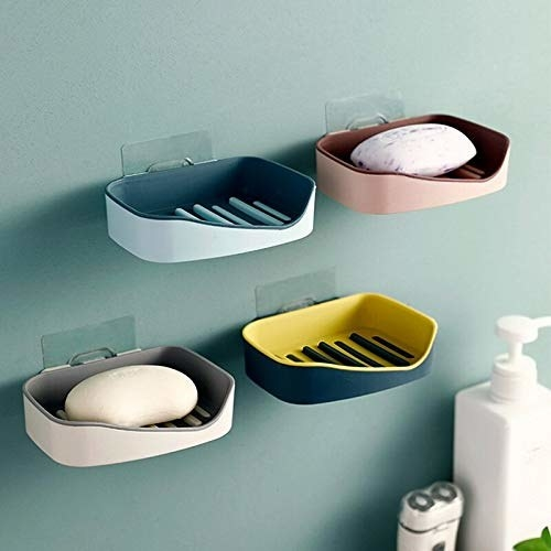 4 soap holders with soap in them