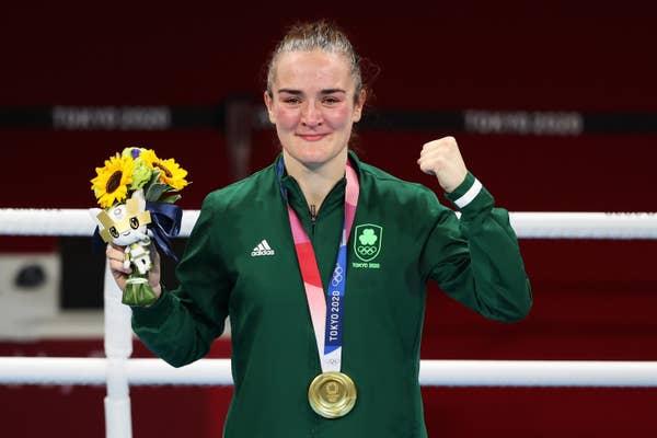 Kellie Anne Harrington poses with gold medal