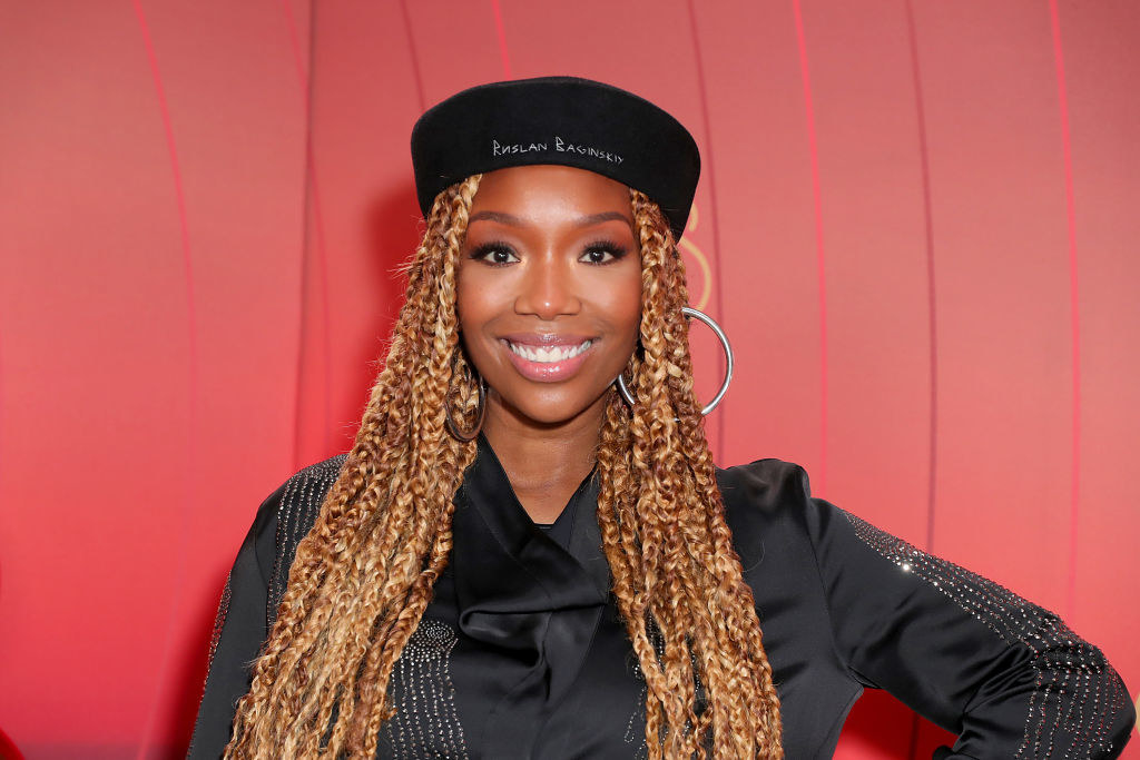 Brandy poses at the 2020 Soul Train Awards