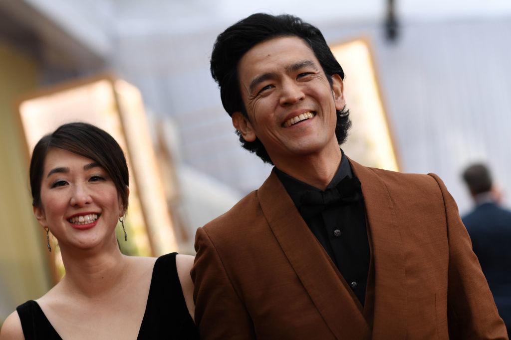 Kerri Higuchi and John Cho at the 2020 Oscars red carpet