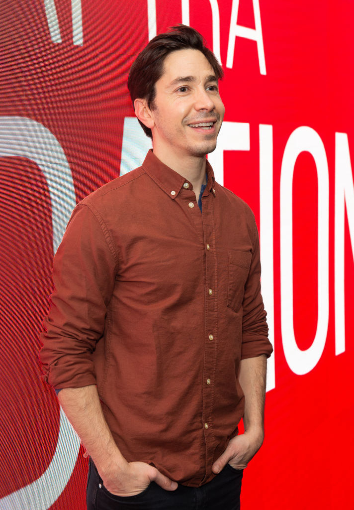 """Justin Long at theSAG-AFTRA Foundation Conversation: """"After Class"""" wearing a brownish-red button-down"""
