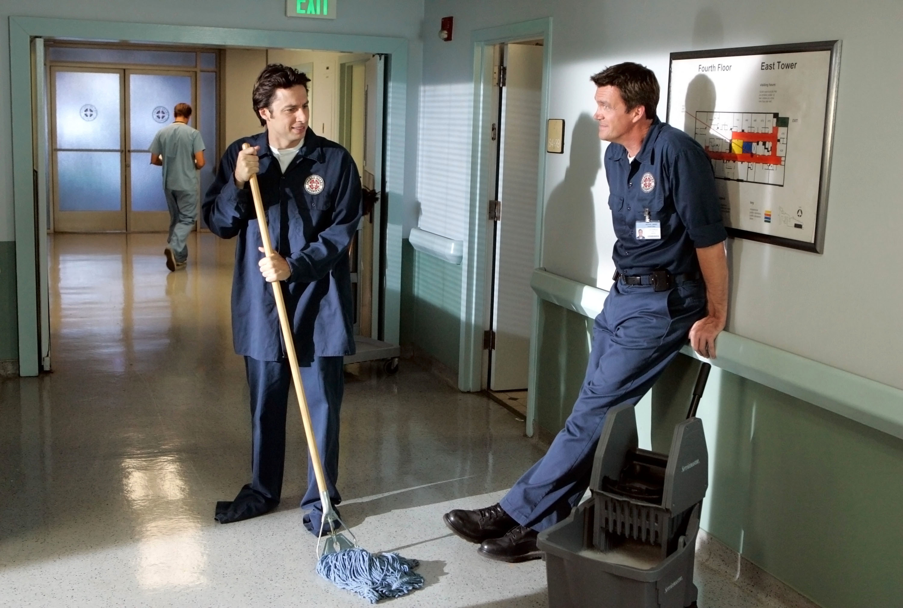 The janitor and J.D. together