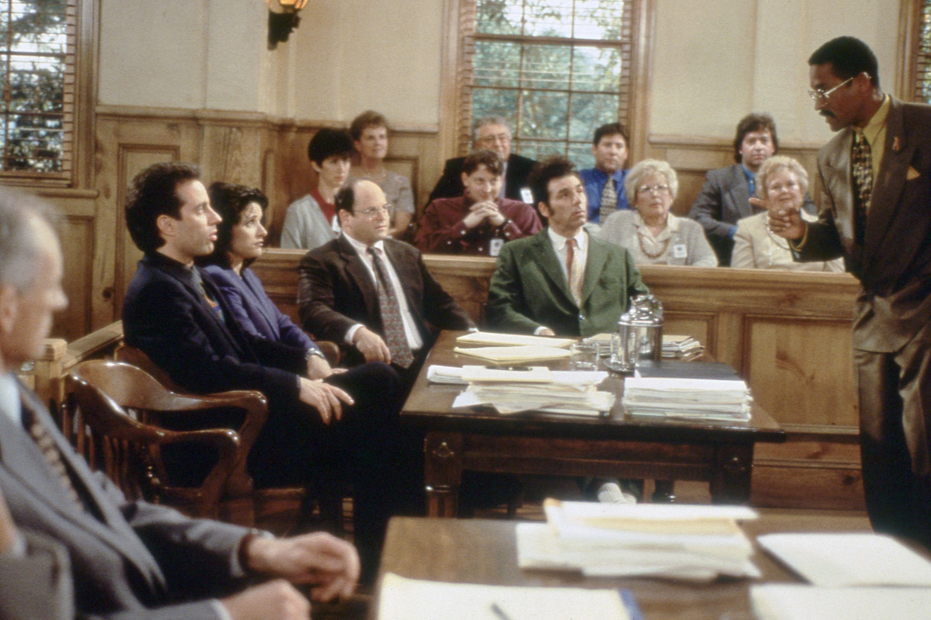 the cast at their trial in the finale