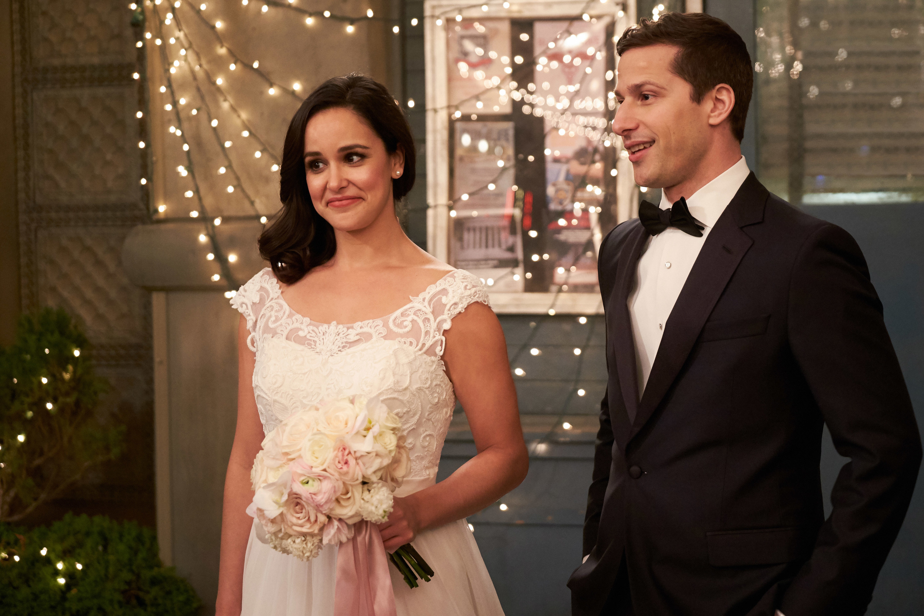 Amy and Jake on their impromptu wedding day