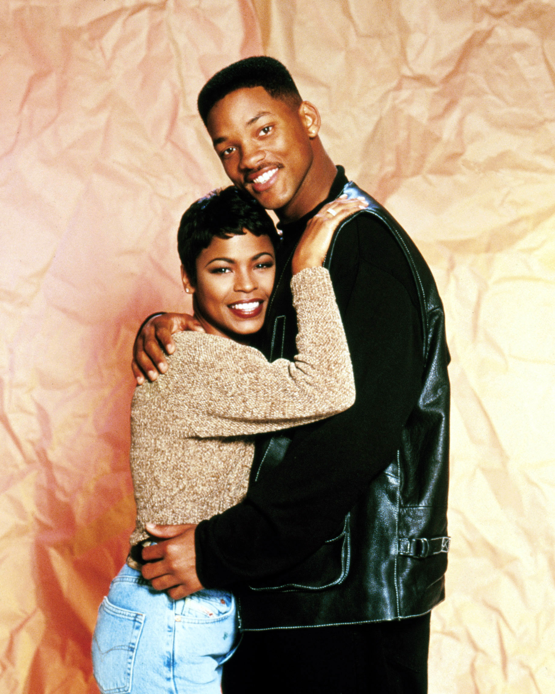 Nia Long and Will Smith embracing
